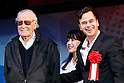 Comic book writer Stan Lee (L) and actor Daniel Logan (R) attend the opening ceremony for the Tokyo Comic Con at Makuhari Messe International Exhibition Hall on December 2, 2016, Tokyo, Japan. Tokyo's Comic Con is part of the San Diego Comic-Con International event and is being held for the first time in Japan from December 2 to 4, 2016. (Photo by Rodrigo Reyes Marin/AFLO)