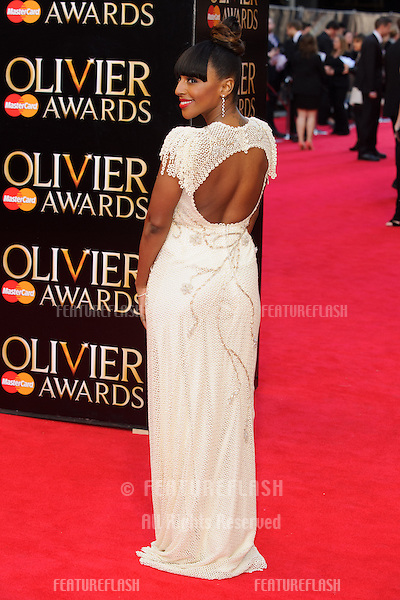 Alexandra Burke arrives for the Laurence Olivier Awards 2014 at the Royal Opera House, Covent Garden, London. 13/04/2014 Picture by: Steve Vas / Featureflash