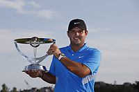 Patrick Reed of United States poses with the trophy after the final round of the Northern Trust played at Liberty National Golf Club, Jersey City, USA. 12/08/2019<br /> Picture: Golffile | Michael Cohen<br /> <br /> All photo usage must carry mandatory copyright credit (© Golffile | Michael Cohen)