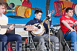 """Timmy Flaherty from Moyvane playing the banjo with """"Sound as a Pound"""" in the Square last Sunday."""