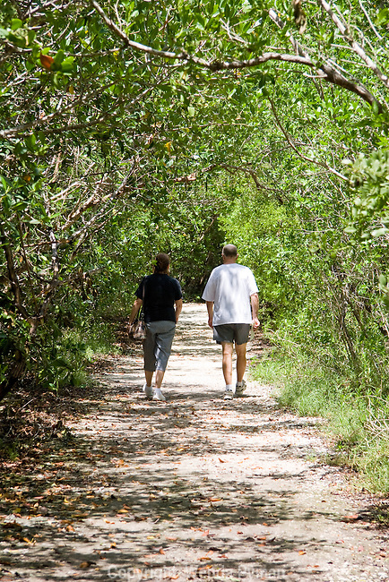 Visitors enjoy the nature trails in Crane Point Hammock.