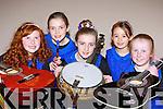 The Glenflesk Instrumental Music group at the East Kerry Scór na bPáiste in Fossa on Saturday l-r: Katelyn Cronin, Eabha Healy, Aileen Healy, Sarah Moray and Sinead Gleeson