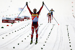 Martin Johnsrud Sundby competes during the 15 Km Mass Start Classic race of Tour de ski as part of the FIS Cross Country Ski World Cup  in Val Di Fiemme, on January 9, 2016. Martin Johnsrud Sundby (NOR) wins and remains current leader.