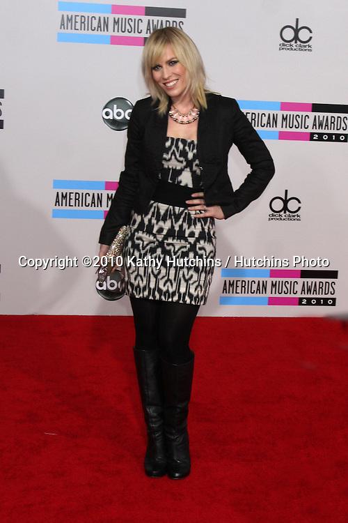 LOS ANGELES - NOV 21:  Natasha Beddingfield arrives at the 2010 American Music Awards at Nokia Theater on November 21, 2010 in Los Angeles, CA