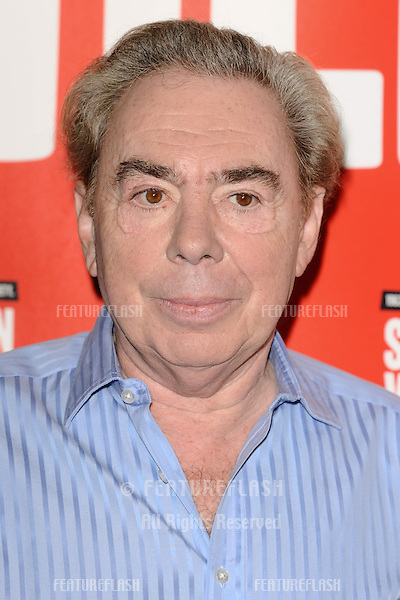 "Lord Andrew Lloyd Webber at the photocall to launch Lloyd Webber's new musical ""Stephen Ward"" at The Box, Soho, London.  30/09/2013 Picture by: Steve Vas / Featureflash"