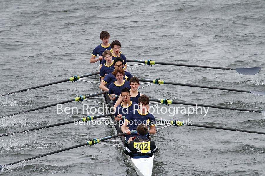 Crew: 102  Eton Coll  Event: School 3rd Eights<br /> <br /> Schools' Head of the River 2017<br /> <br /> To purchase this photo, or to see pricing information for Prints and Downloads, click the blue 'Add to Cart' button at the top-right of the page.