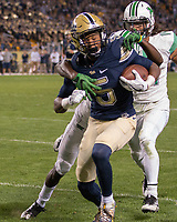 Pitt wide receiver Tre Tipton (5). The Pitt Panthers defeated the Marshall Thundering Herd 43-27 on October 1, 2016 at Heinz Field in Pittsburgh, Pennsylvania.