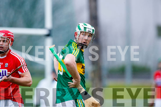 Padraig Boyle Kerry  in action against  Cork in the Co-op Superstores Munster Senior Hurling League on Sunday 14th January in Austin Stack Park, Tralee.