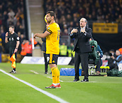 11th February 2019, Molineux, Wolverhampton, England; EPL Premier League football, Wolverhampton Wanderers versus Newcastle United; Newcastle United Manager Rafael Benitez giving direction to his players to come in closer for the throw in by Jonny Otto of Wolverhampton Wanderers