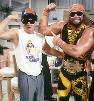 "Regis Philbin Randy ""Macho Man"" Savage 1984<br /> Photo By Adam Scull/PHOTOlink.net"