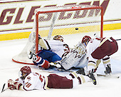 No goal due to a goaltender interference penalty to Riley Wetmore (Lowell - 16). - The Boston College Eagles defeated the visiting University of Massachusetts-Lowell River Hawks 5-3 (EN) on Saturday, January 22, 2011, at Conte Forum in Chestnut Hill, Massachusetts.