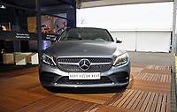 Fahrzeug mit dem neuen WM Slogan am Mercedes Benz Presseclub - 23.03.2018: Deutschland vs. Spanien, Esprit Arena Düsseldorf
