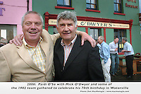 MICK O'DWYER 70TH BIRTHDAY.Kerry footballers from the great era between 1975-1986 when they won 8 All-Ireland's gathered in Waterville County Kerry at the weekend to celebrate Mick O'Dwyer's 70th birthday. Organised by Eoin The Bomber Liston the team which included sporting legends like Jimmy Deenihan, Pat Spillane, Mikey Sheehy, Jack O'Shea, Paidi O'Shea, Charlie Nelligan cleebrated with golf in the afternoon and dinner in The Butler Arms Hotel..Picture shows.Photo: Don MacMonagle