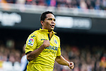 Carlos Arturo Bacca Ahumada of Villarreal CF celebrates after scoring his goal during the La Liga 2017-18 match between Valencia CF and Villarreal CF at Estadio de Mestalla on 23 December 2017 in Valencia, Spain. Photo by Maria Jose Segovia Carmona / Power Sport Images