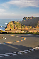 Highway One on the California coast near Elk.