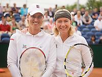 17-8-08, Den Bosch, Tennis, Nationale Kampioenschappen, Susanne Trik(L) en haar dubbelspartner Mireille Bink