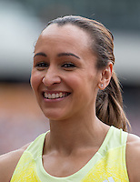 Jessica ENNIS HILL of GBR (Women's 100m Hurdles) during the Sainsburys Anniversary Games at the Olympic Park, London, England on 25 July 2015. Photo by Andy Rowland.