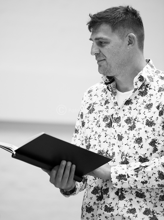 """King Lear"" rehearsed reading rehearsals. Old Vic Theatre. Director: Jonathan Miller. Christopher Brand."