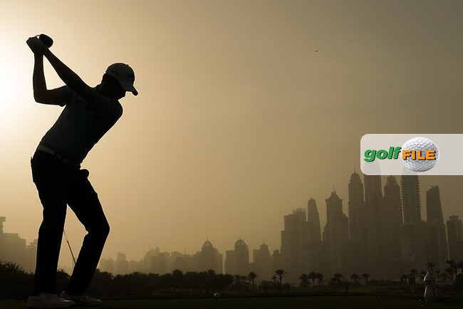 Steven Brown (ENG) in action during the first round of the Omega Dubai Desert Classic, Emirates Golf Club, Dubai, UAE. 24/01/2019<br /> Picture: Golffile | Phil Inglis<br /> <br /> <br /> All photo usage must carry mandatory copyright credit (&copy; Golffile | Phil Inglis)
