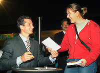 21-2-06, Netherlands, tennis, Rotterdam, ABNAMROWTT, Tournament director and autor richard Krajicek signs his last book