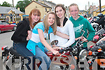 Trying out one of the many motorbikes in Athea on Saturday were Nicola Moore, and Fiona Morrissey, Abbeyfeale, Tracey Mulvihill, Athea and Georgina Browne, Abbeyfeale   Copyright Kerry's Eye 2008