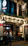 "The Penny Black - ""The Penny Black"" Victorian London pub at night, Boat Quay, Singapore"