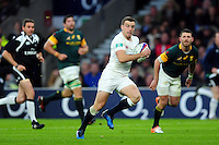 George Ford of England goes on the attack. Old Mutual Wealth Series International match between England and South Africa on November 12, 2016 at Twickenham Stadium in London, England. Photo by: Patrick Khachfe / Onside Images
