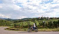 Paesaggio presso Lirio, paese in provincia di Pavia --- Landscape near Lirio, small village in the province of Pavia