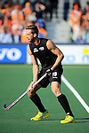 The Hague, Netherlands, June 01: Alex Shaw #19 of New Zealand in action during the field hockey group match (Men - Group B) between the Black Sticks of New Zealand and Korea on June 1, 2014 during the World Cup 2014 at GreenFields Stadium in The Hague, Netherlands. Final score 2:1 (1:0) (Photo by Dirk Markgraf / www.265-images.com) *** Local caption ***