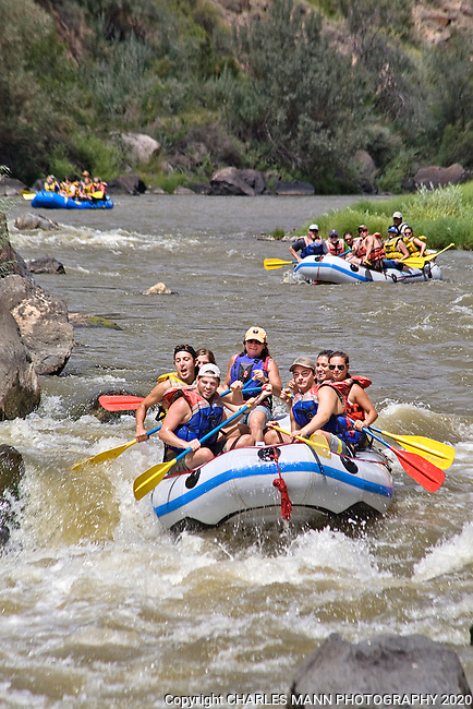 River rafting down the Rio Grande is a very popular summer activity and the area of the river known as the racecourse near the village of Pilar is visited by scores of rafts and kayaks during the summer months.