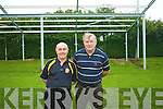 Currow GAA area appealing for financial support to further boost the development of the local club who in recent years have undertaken major works to ensure that it caters for the needs of all the players and supporters in the area. .L-R  Treasurer John Fleming and Club Chairman Paddy O'Sullivan