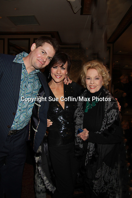 """Eileen Fiulton comes to see Colleen Zenk and Trent Dawson - As The World Turns Colleen Zenk stars in her one-woman cabaret show """"Colleen Zenk - Still Sassy"""" with special guest Trent Dawson on October 30, 2011 at Feinstein's at Loews Regency, New York City, New York. They sang together and shared stories.  (Photo by Sue Coflin/Max Photos)"""