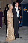 """PRINCE PAVLOS AND PRINCESS MARIE-CHANTAL OF GREECE.Wedding of HRH the Hereditary Grand Duke and Countess Stéphanie de Lannoy.Gala Dinner at the Grand-Ducal Palace, Luxembourg_19-10-2012.Mandatory credit photo: ©Dias/NEWSPIX INTERNATIONAL..(Failure to credit will incur a surcharge of 100% of reproduction fees)..                **ALL FEES PAYABLE TO: """"NEWSPIX INTERNATIONAL""""**..IMMEDIATE CONFIRMATION OF USAGE REQUIRED:.Newspix International, 31 Chinnery Hill, Bishop's Stortford, ENGLAND CM23 3PS.Tel:+441279 324672  ; Fax: +441279656877.Mobile:  07775681153.e-mail: info@newspixinternational.co.uk"""