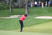 Pep Angles (ESP) plays his 2nd shot on the 10th hole during Sunday's storm delayed Final Round 3 of the Andalucia Valderrama Masters 2018 hosted by the Sergio Foundation, held at Real Golf de Valderrama, Sotogrande, San Roque, Spain. 21st October 2018.<br /> Picture: Eoin Clarke | Golffile<br /> <br /> <br /> All photos usage must carry mandatory copyright credit (&copy; Golffile | Eoin Clarke)