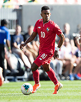 CLEVELAND, OH - JUNE 22: Edgar Barcenas #10 during a game between Panama and Guyana at FirstEnergy Stadium on June 22, 2019 in Cleveland, Ohio.