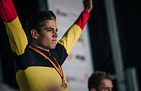 Wout van Aert (BEL/Crelan-Charles) winning his 3rd consecutive Belgian National Elite Title<br /> <br /> Elite Men's Race<br /> Belgian National CX Championships / Koksijde 2018