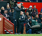Jose Mourinho manager of Manchester United reacts during the match during the English Premier League match at Old Trafford Stadium, Manchester. Picture date: April 16th 2017. Pic credit should read: Simon Bellis/Sportimage