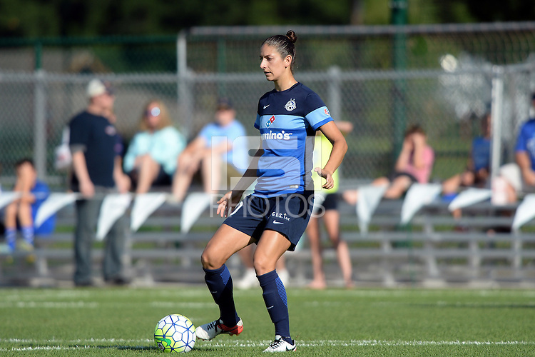 Kansas City, MO - Saturday July 16, 2016: Yael Averbuch during a regular season National Women's Soccer League (NWSL) match between FC Kansas City and the Washington Spirit at Swope Soccer Village.