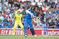 Shikhar Dhawan (India) pushes into the off side for an easy run during India vs Australia, ICC World Cup Cricket at The Oval on 9th June 2019
