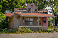 The Top Hat Dairy Bar in Foyil Oklahoma on Route 66 is no longer in Business.