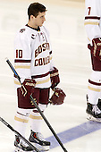 Danny Linell (BC - 10) - The Boston College Eagles defeated the visiting University of Connecticut Huskies 3-2 on Saturday, January 24, 2015, at Kelley Rink in Conte Forum in Chestnut Hill, Massachusetts.