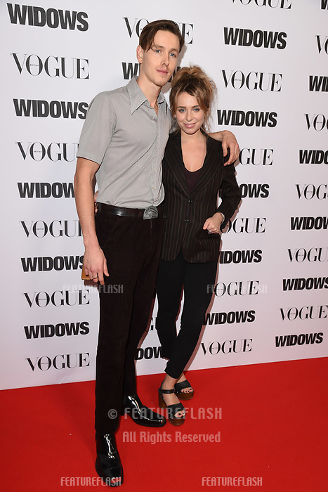 LONDON, UK. October 31, 2018: Harris Dickinson &amp; Rose Gray at the &quot;Widows&quot; special screening in association with Vogue at the Tate Modern, London.<br /> Picture: Steve Vas/Featureflash