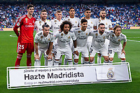 Real Madrid team group during the match between Real Madrid v Cd Leganes of LaLiga, 2018-2019 season, date 3. Santiago Bernabeu Stadium. Madrid, Spain - 1 September 2018. Mandatory credit: Ana Marcos / PRESSINPHOTO