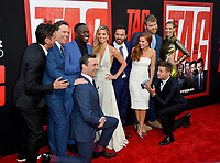 Jeff Tomsic, Ed Helms, Hannibal Buress, Annabelle Wallis, Jake Johnson, Isla Fisher, Steve Berg, Jeremy Renner &amp; Leslie Bigg at the world premiere for &quot;TAG&quot; at the Regency Village Theatre, Los Angeles, USA 07 June  2018<br /> Picture: Paul Smith/Featureflash/SilverHub 0208 004 5359 sales@silverhubmedia.com