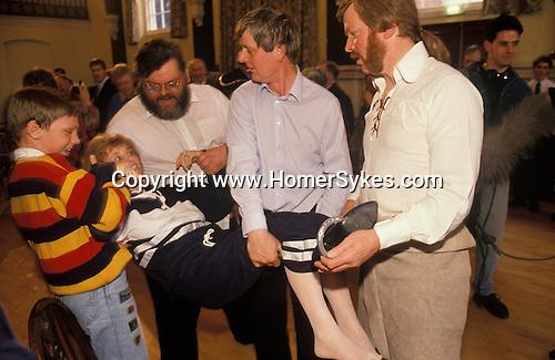 Hungerford Hocktide  Berkshire UK. Shoeing the Colt ceremony.