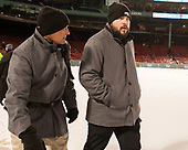 Stephen Basiel (PC - Athletic Trainer), Andrew Zagorianakos (PC - Manager) - The Boston College Eagles defeated the Providence College Friars 3-1 (EN) on Sunday, January 8, 2017, at Fenway Park in Boston, Massachusetts.