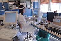 Milano, ospedale Sacco, laboratorio di virologia....Milano (Italy), hospital Sacco, laboratory of virology