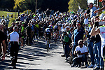 The main bunch of favourites climb the Sormano during the 111th edition of Il Lombardia 2017 &quot; The Race of the Falling Leaves&quot; the final monument of the season, running 247km from Bergamo to Como, Italy. 7th October 2017.<br /> Picture: LaPresse/Fabio Ferrari | Cyclefile<br /> <br /> <br /> All photos usage must carry mandatory copyright credit (&copy; Cyclefile | LaPresse/Fabio Ferrari)