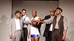 Cast: Lamar Cheston, Jeantique Oriol, Thaddeus Daniels, Layon Gray, Delano Barbosa star in Layon Gray's Kings of Harlem - a story about the Harlem Rens who were one of the dominant basketball teams of the 1920's and 1930's - had a special show on September 15, 2015 at St. Luke's Theatre, New York City, New York. The play stars Melvin Huffnagle, Thaddeus Daniels, Ade Otukoya, Lamar Cheston, Delano Barbosa, Jeantique Oriol and Layon Gray.  (Photo by Sue Coflin/Max Photos)