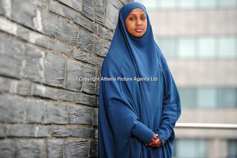 Pictured: Welsh language learner Mymuna Mohamood at Cardiff Bay, Cardiff, Wales, UK. Friday 17 May 2019